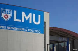 FILE - The final Democratic presidential debate of the year is set for Dec 19, 2019, at Loyola Marymount University in Los Angeles. (Elizabeth Lee/VOA)