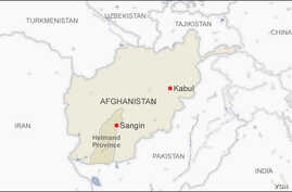 Map of Sangin district, in Helmand province,  Afghanistan