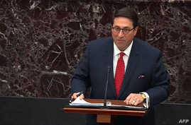 This still image taken from a US Senate webcast shows Counsel to the President Jay Sekulow speaking in the Senate Chamber