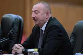 Azerbaijan President Ilham Aliyev meets with Chinese President Xi Jinping at the Great Hall of the People in Beijing, Wednesday…