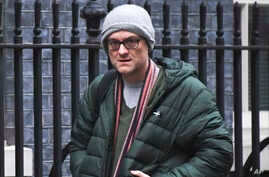Britain's Prime Minister Boris Johnson's senior adviser, Dominic Cummings arrives at 10 Downing Street before the prime minister holds the first Cabinet meeting after the General Election, in London, Dec. 16, 2019.