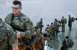 U.S. Army, paratroopers assigned to 1st Brigade Combat Team, 82nd Airborne Division deploy