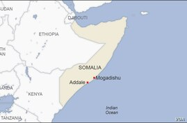 Map of Addale Somalia