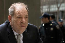 Harvey Weinstein arrives at a Manhattan courthouse for jury selection in his rape trial, Jan. 13, 2020, in New York.