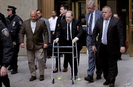 Harvey Weinstein, center, leaves court in New York, Jan. 6, 2020.