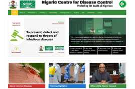 The Nigeria Centre for Disease Control home page displays a public health advisory on the coronavirus outbreak.