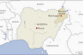 Map of Borno state Nigeria