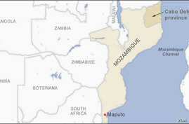 Map of Cabo Delgado Mozambique