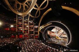 A general view of the Oscars show during the 92nd Academy Awards in Hollywood, Los Angeles, Calif., Feb. 9, 2020.