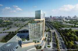Conceptural rendering of proposed Pamunkey casino and resort in Richmond, Va.