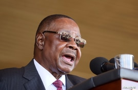 Malawi's President Peter Mutharika addresses guests during his inauguration ceremony in Blantyre, Malawi, May 31, 2019.REUTERS…