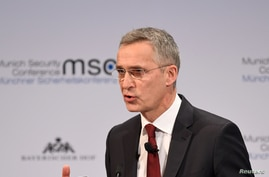 NATO Secretary GeneralJensStoltenberg speaks at the annual Munich Security Conference in Germany February 15, 2020. REUTERS…