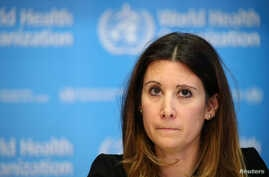 FILE PHOTO: Technical Lead for the World Health Organization (WHO) Maria Van Kerkhove attends a news conference on the…