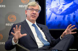 FILE PHOTO: Royal Bank of Canada CEO David McKay speaks with Reuters Editor-in-Chief Steve Adler at a Reuters Newsmaker event …