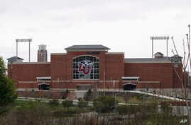 Liberty University's football stadium is empty as students were welcomed back to the university's campus, Tuesday March 24 ,…