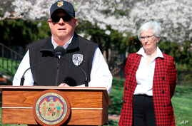 "Maryland Gov. Larry Hogan announces a ""stay-at-home"" directive during a news conference on March 30, 2020, in Annapolis, Md."