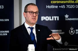World Health Organisation's Regional Director for Europe Hans Kluge speaks during a news conference about the coronavirus disease (COVID-19) at Eigtveds Pakhus, in Copenhagen, Denmark March 27, 2020.