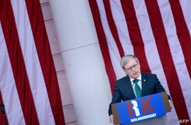 Daniel Mulhall, Ambassador of Ireland to the United States, speaks during an event at Arlington National Cemetery commemorating…