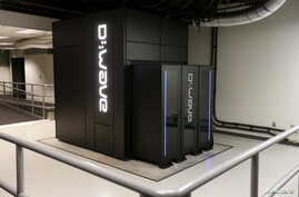 A D-Wave 2X quantum computer is pictured during a media tour of the Quantum Artificial Intelligence Laboratory (QuAIL) at NASA…