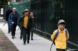 Children return to campus for the first day of New South Wales public schools fully re-opening for all students and staff…