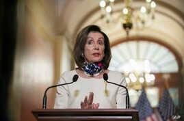 House Speaker Nancy Pelosi of Calif., speaks about the so-called Heroes Act, Tuesday, May 12, 2020 on Capitol Hill