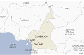 Map of Douala Cameroon