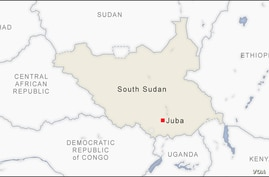 Map of South Sudan
