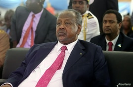 Djibouti's President Ismail Omar Guelleh attends the inauguration ceremony of Somalia's newly elected President Mohamed…