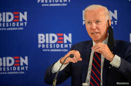 Democratic U.S. presidential candidate and former Vice President Joe Biden speaks at a campaign event devoted to the reopening…