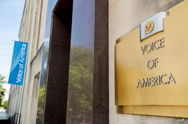 The Voice of America building, Monday, June 15, 2020, in Washington.
