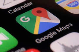 This Wednesday, March 22, 2017, photo shows the Google Maps app on a smartphone, in New York. Google is enabling users of its…