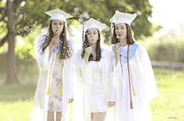 Abby Becker, Kaylee Power, and Lily Monahan, graduating from Cumberland High School in Cumberland, Rhode Island, have been best