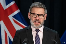 Iain Lees-Galloway addresses a press conference at Parliament in Wellington, New Zealand, on July 6, 2020.