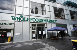 A view of Whole Foods in New York City USA during Coronavirus pandemic on May 1, 2020.