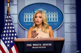 White House press secretary Kayleigh McEnany speaks during a press briefing at the White House, June 30, 2020.