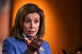 House Speaker Nancy Pelosi of Calif., speaks during a news conference on Capitol Hill, Thursday, July 2, 2020, in Washington. …