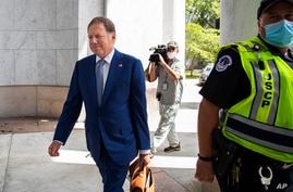 Geoffrey Berman, former federal prosecutor for the Southern District of New York, arrives for a closed door meeting