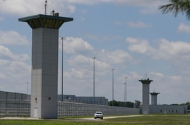 The federal prison complex in Terre Haute, Ind., is shown Friday, July 17, 2020. Dustin Honken, an Iowa meth kingpin who…