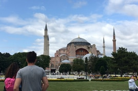For nearly a thousand years, the Hagia Sophia was Christianity's largest church. Then, for 400 years it was a mosque. Today, it's a museum and UNESCO World Heritage site and Istanbul's most popular tourist site. (Dorian Jones/VOA)