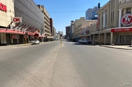 Most streets were deserted after security forces ordered people to vacate and go home, in Harare, July 31, 2020.  (Columbus Mavhunga/VOA)
