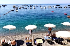 Another view of the beach at Marina del Cantone (Sabina Castelfranco/VOA)