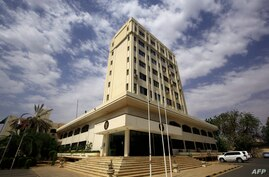 The Ministry of Foreign Affairs building is pictured in the Sudanese capital Khartoum, on June 23, 2020. - Sudan is close to…