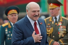 FILE PHOTO: Belarusian President Alexander Lukashenko takes part in the celebrations of Independence Day in Minsk, Belarus July…
