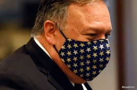 FILE - U.S. Secretary of State Mike Pompeo departs a meeting with members of the U.N. Security Council about Iran's alleged non-compliance with a nuclear deal at the United Nations in New York, U.S., August 20, 2020.