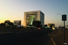 It was a quiet start to night life in Gaborone, Botswana, following the lifting of lockdown restrictions Aug. 14, 2020. (Mqondis