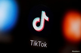 FILE - A TikTok logo is displayed on a smartphone in this illustration taken Jan. 6, 2020.