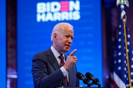 Democratic presidential candidate former Vice President Joe Biden gives a speech on the Supreme Court at The Queen Theater, Sept. 27, 2020, in Wilmington, Del.