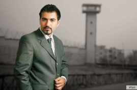 Undated image of jailed Iranian blogger Soheil Arabi, who sent an audio message from Greater Tehran Penitentiary in September 2020 warning of worsening coronavirus, hygiene, food and water conditions for prisoners. (VOA Persian)
