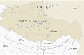 Map of Tibet Autonomous Region