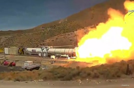 NASA and Northrop Grumman successfully complete the Flight Support Booster-1 (FSB-1) test in Promontory, Utah, on Sept. 2, 2020. (Photo: NASA)